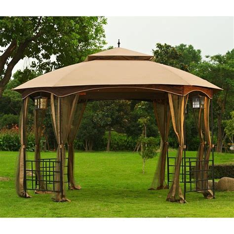 sunjoy gazebo sunjoy gazebos cardiff 12 ft x 10 ft steel fabric gazebo
