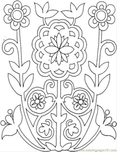 flower pattern coloring pages free flower patterns coloring pages