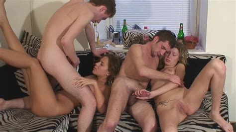 A Group Of People Is Making Love In The Sexy Group Sex