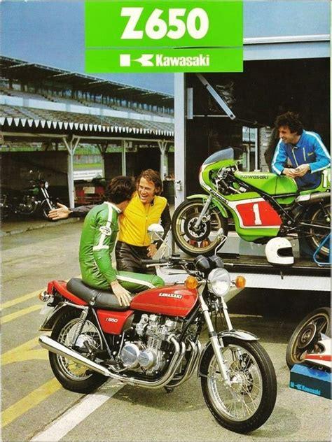 Motorrad Oldtimer Outfit by Kawasaki Z650 1977 More Kawasaki Pinterest