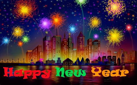 wallpaper for pc happy new year happy new year fireworks image hd desktop backgrounds free