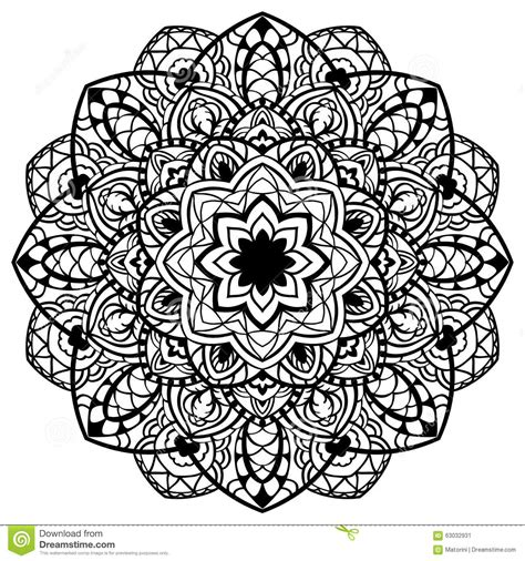 Detailed Ornament Coloring Pages Vector Abstract Detailed Mandala Stock Vector Image by Detailed Ornament Coloring Pages