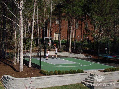 small backyard basketball court dimensions landscaping