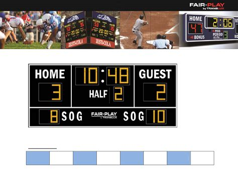 download flat soccer scoreboard template for free