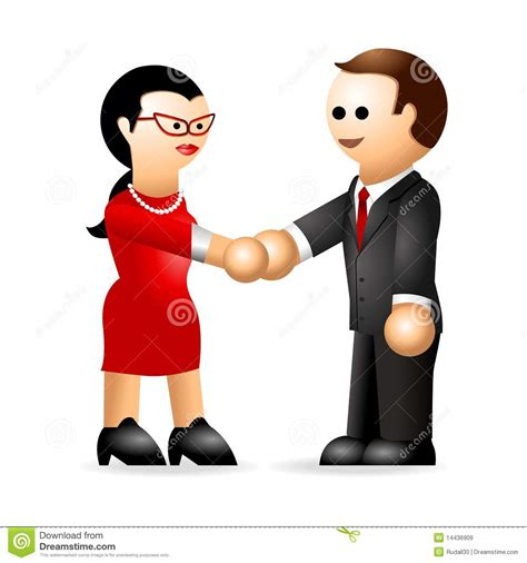 iconic figure business deal royalty free stock images