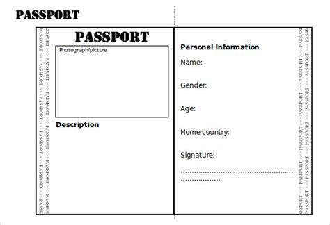 Editable Passport Template 19 Passport Templates Pdf Psd Ai Free Premium Templates