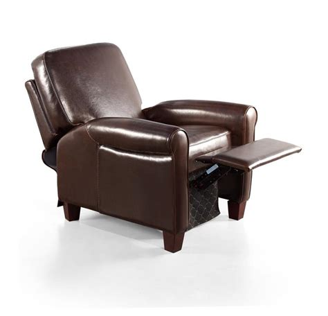 overstock leather recliner eurodesign brown leather recliner 12973500 overstock