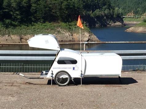 Travel Trailers Floor Plans bike camper with extendable rear pod living in a shoebox