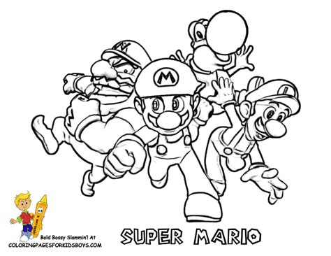 Free Mario Party Coloring Pages Mario Coloring Pages For Boys