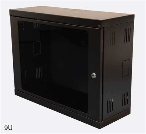 Wall Rack Cabinet by Enclosure Systems 4012209 B Cw Wall Rack Cabinet 9u Black