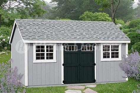garden tool storage shed plans    gable roof