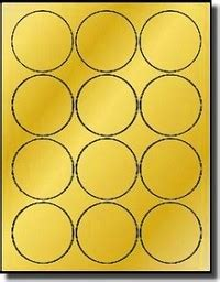 Gold Foil 2 1 2 Inch Round Labels For Laser Only Avery 174 5294 Avery Circle Labels Template