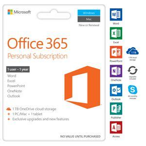 Microsoft Office 365 Personal microsoft office 365 personal 1 device 12 months
