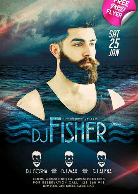 dj event poster templates free dj event free flyer psd template
