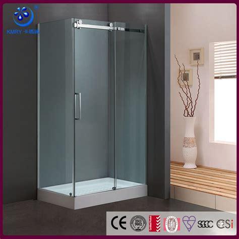 Acrylic Shower Door One Sliding Door Frameless Rectangle Acrylic Cubicle Glass Shower Door Kt8115 Buy Glass