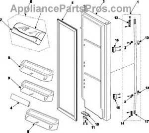 parts for samsung rs255basb refrigerator door parts