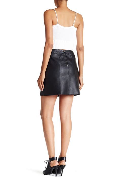 valette faux leather mini skirt nordstrom rack