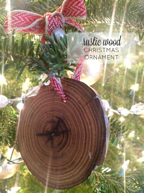 rustic wood christmas ornaments farmhouse made