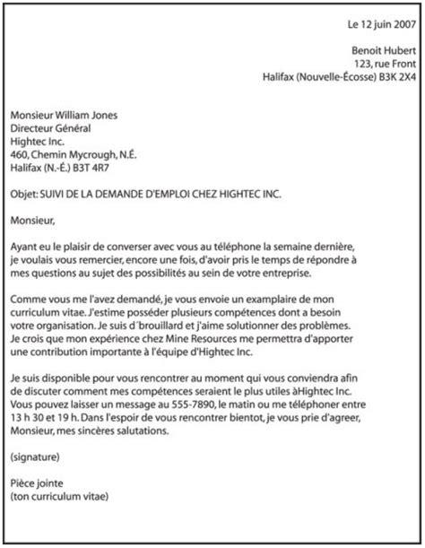 Modèle Présentation Cv by Resume Format Lettre Pr 233 Sentation Cv Qu 233 Bec