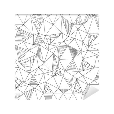 pattern low poly vector fotobehang vector low poly zentangle seamless pattern