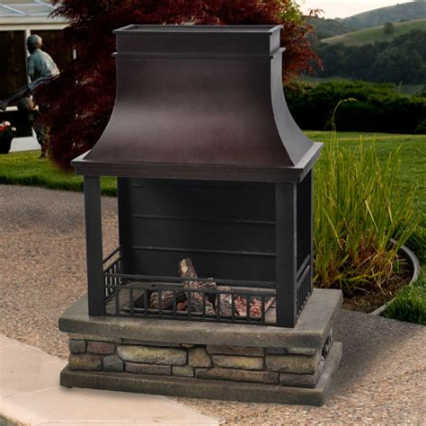 Propane Gas Outdoor Fireplace by Cheyenne Outdoor Lp Gas Fireplace Walmart