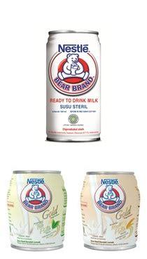 Nestle Brand Gold Malt Putih Beruang Steril Rendah Lemak brand