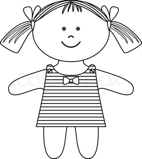 rag doll outline ragdoll contours stock vector colourbox