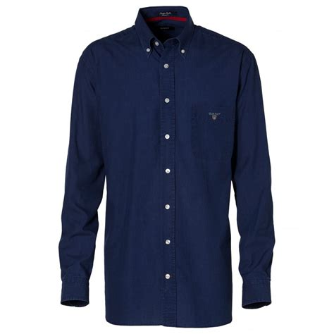 Shirts For Gant Indigo Poplin Shirt Shirts From Gibbs Menswear Uk