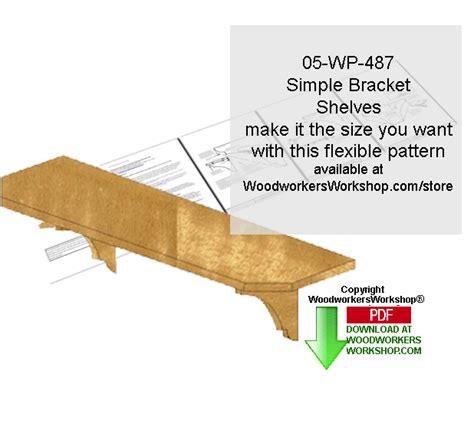 wall mount pattern simple wall mount bracket shelves downloadable scrollsaw