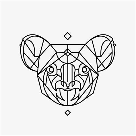geometric tattoo vector best 25 koala tattoo ideas on pinterest small animal