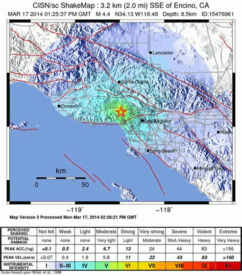 northridge california map map showing location of northridge earthquake map of