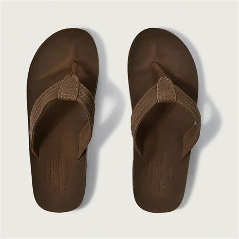 abercrombie and fitch slippers abercrombie fitch leather flip flops 48 liked on