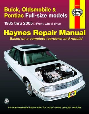 vehicle repair manual 1986 pontiac firefly parking system all buick park avenue parts price compare