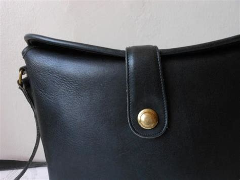Tas Selempang Coach Original Leather Crossbody Black handbags bags coach designer vintage genuine leather black sling crossbody handbag bag was
