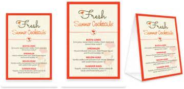 Table Menu Template by Bar Menu Template Bar Menu Design Musthavemenus