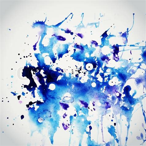 vector watercolor texture blue grunge paper template water paper blobs stain paints
