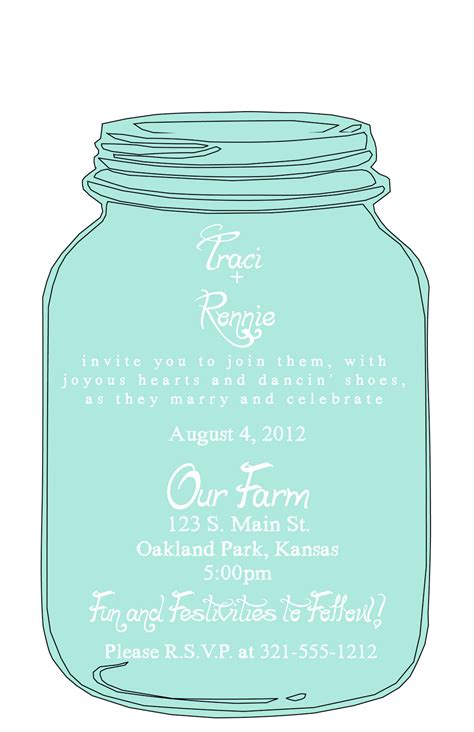 free jar invitation template keen to be seen may 2011