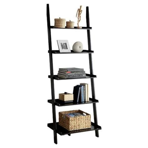 Five Tier Antique Black Ladder Shelf by You Should See This Quint Ladder Bookshelf In Black On