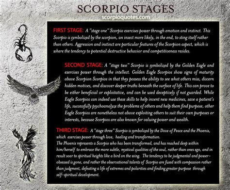 scorpio stages scorpio quotes