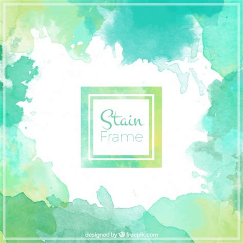 Texture Wall Paint by Green Watercolor Frame Vector Free Download