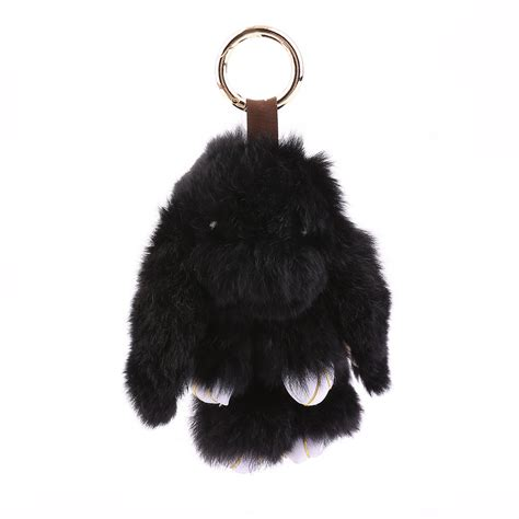 Rabbit Chain 6 inch fluffy bunny rabbit key chain ring for phone bag lucky pendant lo