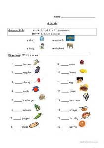 using quot a quot and quot an quot worksheet free esl printable