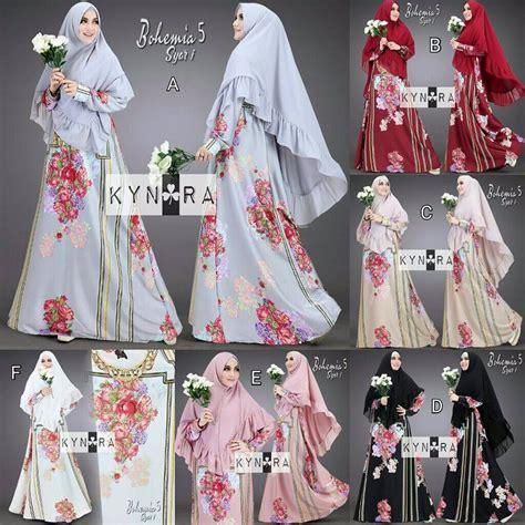 Gamis Syari Maxmara Flower Premium supplier baju muslim terbaru
