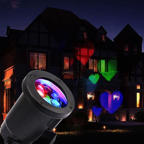 Led Outdoor Landscape Backgroud House Garden Laser Lights Projector On House