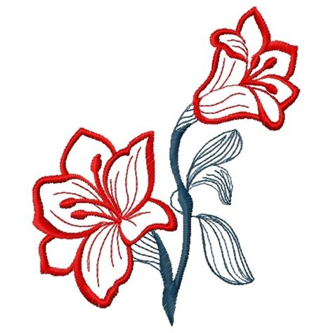 embroidery design outline free red flower outline embroidery design annthegran