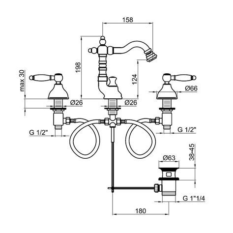 bidet dimensions do710502 bidet mixer dimensions bacera