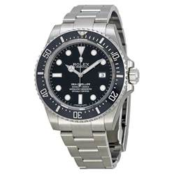 rolex sea dweller 4000 black stainless steel s