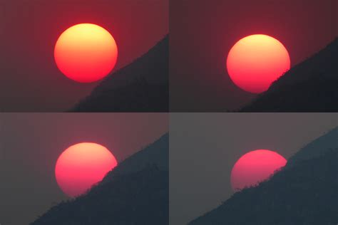 suns colors report from smoky sunsets earth earthsky
