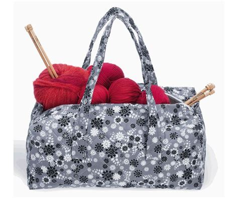 knit bags milward knitting bag grey flower print