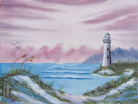 bob ross painting lighthouse below are some of my paintings done with paint using